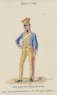 Kingdom of Naples. Sous Officer Gardes d'Honneur Provincial. Petite Tenue 1809