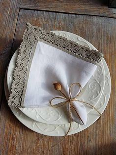 Linen napkin by shabby.romantic / Ľanový obrúsok Exclusive
