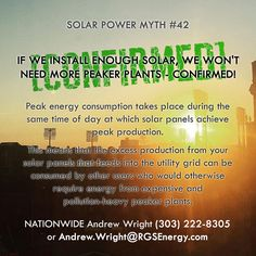 MYTH #42 - IF WE INSTALL ENOUGH SOLAR, WE WON'T NEED MORE PEAKER PLANTS…