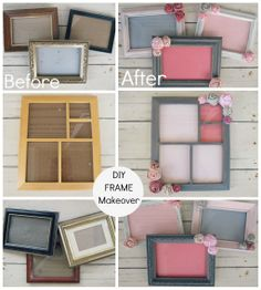 DIY Tutorial on how to take thrifted, old, salvaged frames and make them into beautiful pieces of artwork! They can be used to display kids' art projects, family photos, to label tables at an event or whatever your creative mind thinks of! You can even write over the glass with dry erase marker and make it a marker board!! Bachelorette Party Ideas!
