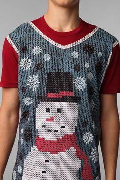 I'm not sure I would wear it, but I love t-shirts that look like sweaters. Very funny/clever.