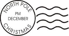 NORTH POLE postmark envelope Christmas art by lovetocreatestamps