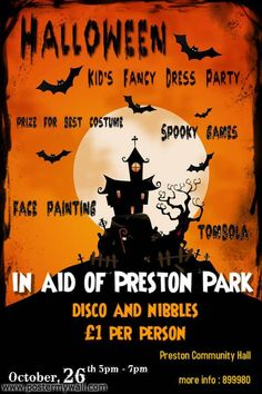 halloween party preston park fundraiser - Halloween Fundraiser Ideas