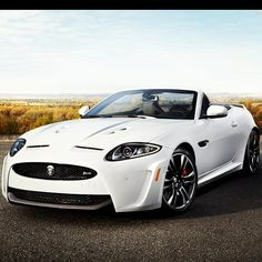 Beautiful White 2013 Jaguar XKR-S Convertible