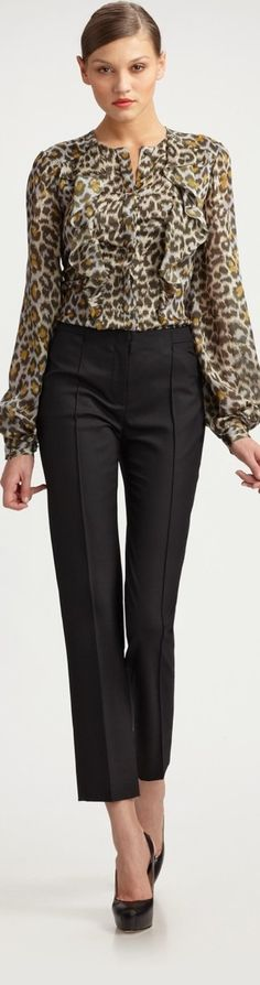 love this leopard....add a red or blue purse and we would be in business