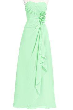 ORIENT BRIDE Women Elegant Sweetheart Floor-Length A-Line Long Prom Dresses Size 2 US Mint