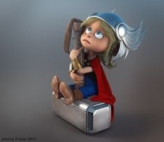 http://www.zbrushcentral.com/showthread.php?209269-Wee-Thor&p=1219256&infinite=1#post1219256