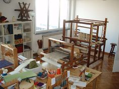 Weaving Studio - beautiful fabrics come out of this studio
