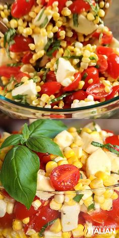 Summer Corn Salad is a bright refreshing taste of summer. Garden fresh corn and . - Summer Corn Salad is a bright refreshing taste of summer. Garden fresh corn and tomatoes come toget - Corn Salad Recipes, Corn Salads, Vegetable Salad Recipes, Corn Avacado Tomato Salad, Recipes With Corn, Cold Pasta Salads, Recipes With Basil, Simple Salad Recipes, Corn Salad Recipe Easy