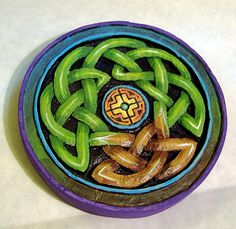 Carved Tree Of Life Color Added
