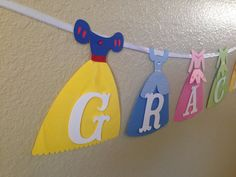 Disney Princess Princess Banner Disney by CuddleBuggParties