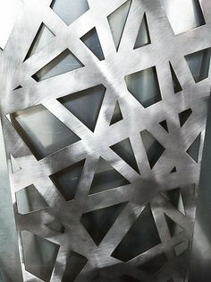 Laser-cut geometry at the metal factory Textured Wall Panels, Decorative Wall Panels, Metal Panels, Laser Cut Metal, Laser Cutting, Custom Metal Fabrication, Modern Deck, Metal Shop, Metal Projects