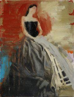 Crinoline 27 x 21cm Oil and resin on canvas 900-