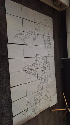From paper;) worldmap wood