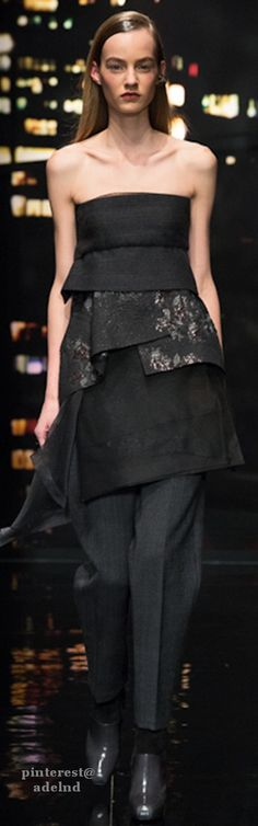 41a051015a7c8 Donna Karan Fall 2015 Runway 2015, Donna Karan, Fall Winter 2015, Strapless  Dress
