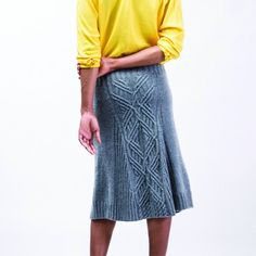 Mix & Match Cable Panel Skirt – Learn some of Norah's favorite techniques while knitting her cable paneled skirt and customizing it for yourself. You can knit the skirt as shown in the photo or substitute in your own choice of cables from Norah Gaughan's Cable Sourcebook (Published by STC Craft, an Imprint of Abrams, Photography by Jared Flood)   This brand-new book from Norah' is coming out just in time for this class.