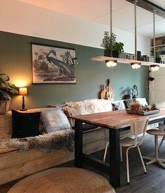 Frisse woonkamer met prachtige kleur: Early Dew van Flexa | Kleuren ...