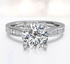 Channel set engagement rings - ritani