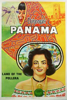 Vintage poster for panama