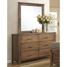 Progressive Brayden Rubberwood and Dresser with Mirror