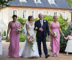 Walking to the ceremony at Sedgeford Hall Norfolk Wedding and Event Venue - Holiday Cottages