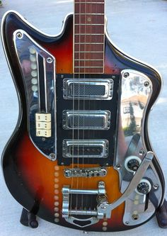 Vintage 60's Kawai Teisco Style Japanese Guitar Modded by Joey Vox