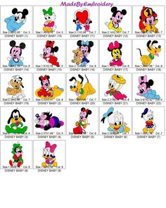 22 DISNEY BABIES Machine Embroidery designs by MadeByEmbroidery on Etsy