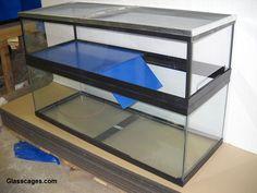 condo tanks / basking tanks that sit on top of the aquarium
