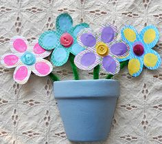 Fingerprint Bouquet | AllFreeKidsCrafts.com