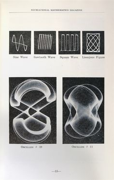 computer art from the 1950s. Electronic Abstractions by Ben F. Laposky