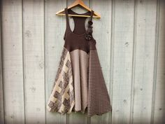 Med. Upcycled Gray Day Dress// Eco Urban Chic by emmevielle, $89.00