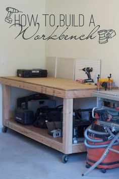 How to Build a Rolling Workbench with this Simple DIY plans. The Glass Workbench, Inc. and DIY. Information could be located by clicking the picture. Rolling Workbench, Building A Workbench, Woodworking Workbench, Easy Woodworking Projects, Diy Wood Projects, Workbench Ideas, Workbench Top, Industrial Workbench, Workbench Designs