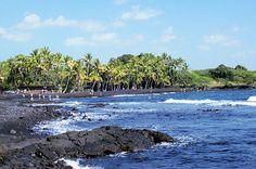 Punalu'u Black Sand Beach - we spent 2 afternoons here swimming and watching sea turtles come ashore.  Amazing find on the Big Island of Hawaii!!