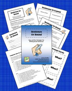 $ Do your students have trouble writing complete sentences? Do they write in fragments and run-ons? Perhaps they write in complete sentences, but their sentences are short and choppy. Sentence Go Round is a simple and fun cooperative learning strategy to teach students how to write longer, more complex sentences. It starts with a short review of fragments, run-ons, and complete sentences. Then students work with a team to expand short, basic sentences into longer, more interesting sentences.