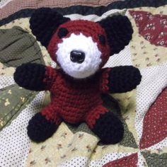 Cute crochet baby fox amigurumi small sitting red by SalemsShop