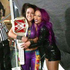 The WWE raw women's champion Bayley and her best friend sasha banks looking gorgeous. The Boss Wwe, Bailey Wwe, Wwe Women's Championship, Pamela Rose Martinez, Wwe Raw Women, Wwe Raw And Smackdown, Wrestlemania 29, Wwe Sasha Banks, Wwe Female Wrestlers