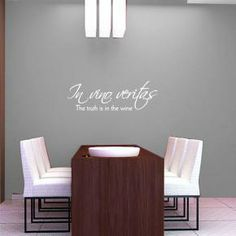 In vino veritas wall quote sticker decal