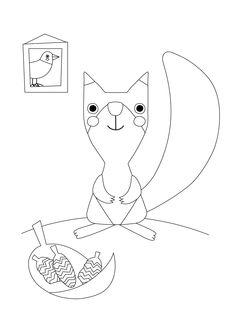 Värityskuva | free printable pattern | lasten | lapset | joulu | idea | askartelu | kädentaidot | käsityöt | tulostettava | kuva | paperi | värittäminen | väritys | värittää | orava | koti | leikki | DIY | ideas | kids | children | crafts | paper | picture | coloring | squirrel | christmas | home | Pikku Kakkonen