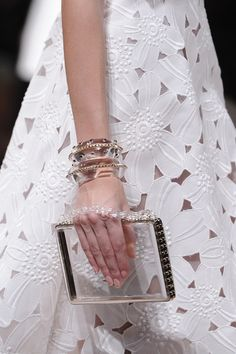 Valentino Spring 2013 (Not sure what the deal is with that empty see-through purse)