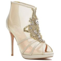 Lianna Mesh/Satin Embellished Booties by Badgley Mischka - See more at: http://www.quinceanera.com/shoes/make-cinderella-jealous-with-these-gorgeous-shoes/?utm_source=pinterest&utm_medium=social&utm_campaign=shoes-make-cinderella-jealous-with-these-gorgeous-shoes#sthash.Skf10p7J.dpuf