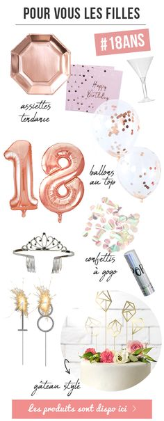 Comment fêter son anniversaire de 18 ans ? Les idées inédites Birthday Table, 25th Birthday, Happy Birthday, Zebra Party, Party Hacks, Birthday Decorations, Holidays And Events, Organisation, Comment