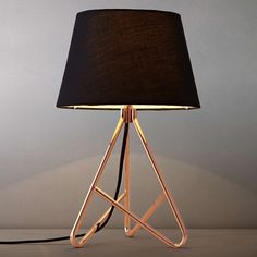 John Lewis Albus Twisted Table Lamp - classic and modern design, love the copper/rose gold. Bedside Table Lamps, Bedroom Lamps, Desk Lamp, Bedroom Lighting, Bedroom Table, John Lewis, Luminaria Diy, Contemporary Table Lamps, Modern Table