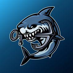 Logo Esport, Badge Logo, Cool Illusions, Shark Logo, Game Logo Design, Esports Logo, Retro Logos, Cool Logo, Vector Art