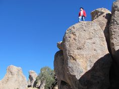 City of Rocks, New Mexico – a lovely place with fascinating rock formations, great for rock climbing or just scrambling. It's also a location in my novel, The Dead Man's Treasure - http://www.krisbock.com/the_dead_man_s_treasure__125081.htm