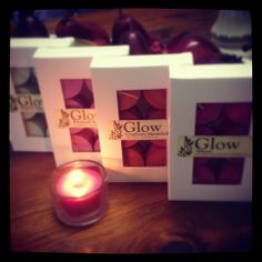 Luxury handcrafted soy tealight candles & melts by Glow Candles Available from www.glowcandles.net  Find us on facebook www.facebook.com/GlowSoy