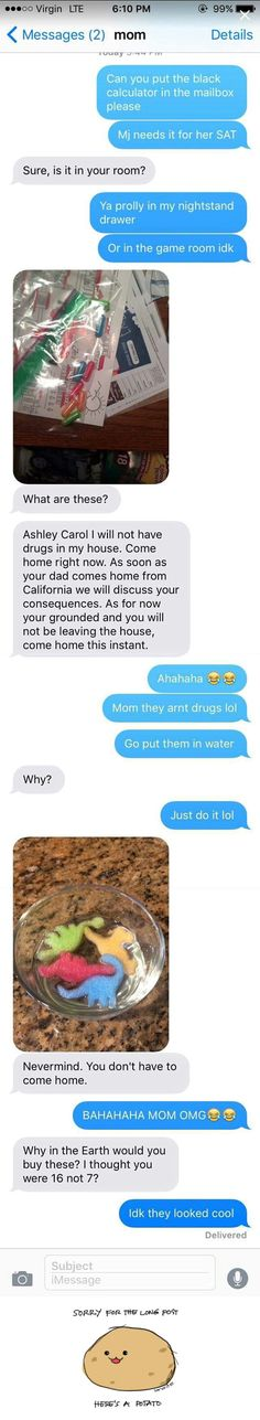 Most Funny Quotes 'You're grounded!' Mom thinks she found drugs in teen's room, girl's explanation is hilarious is part of Funny text messages - Leading Quotes Magazine & Database, Featuring best quotes from around the world