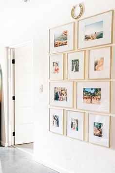 38 creative wall decor ideas to make up your home 11 Gallery Wall Layout, Gallery Wall Frames, Frames On Wall, Gallery Walls, Stair Gallery Wall, Living Room Gallery Wall, Photo Wall Layout, Gold Frames, Living Room Pictures