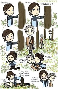 Melissa McBride said shooting this scene with Norman was like playing with a big puppy dog.this could be the cutest thing I've ever seen! Walking Dead Pictures, Walking Dead Art, Walking Dead Funny, Walking Dead Season, Daryl Dixon, Daryl E Carol, Twd Memes, Big Puppies, Dead Inside