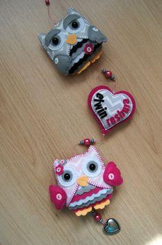Handmade by JoHo - uil vilt - owl felt - feltro