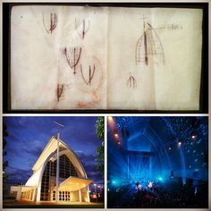 """Some of the greatest ideas started on a napkin..."" The Hillsong Chapel (Drawing by Brian Houston)"